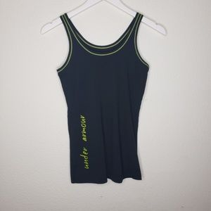Under Armour Black Neon Yellow Green Tank